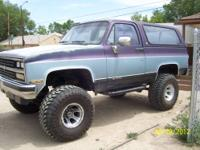 1990 Chevy Blazer, Full size, Silverado Custom Package,