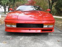 1990 Red Ferrari Testarossa. I have mine for sale if