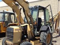 1990 Ford 455C 4 wheel drive backhoe loader. New engine