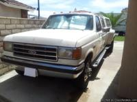 Truck: 1990 Ford F350 Crew Cab Lariart, 224K miles