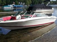 Selling our 1990 Four Winns freedom 170 speed boat. Has