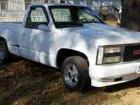 Hi, i have a 1990 gmc stepside white in color with a