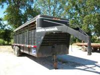 1990 gooseneck brank stock trailer..6ft wide metal top