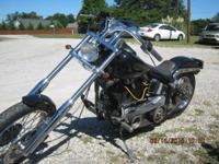 90 Harley Chopper Softail, runs great, chrome front