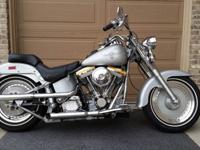 1990 Harley Davidson Fatboy Gray Ghost.Excellent