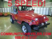 4x4 1990 Jeep Wrangler. LOCAL TRADE!! Engine and