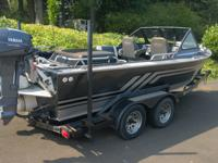 1990 Jetcraft jet boat. Includes Eagle Trifinder fish