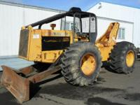1990 JOHN DEERE 740A, Exterior: Yellow, 90 % tires, 4