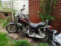 1990 Kaw 750 Vulcan. In pretty good shape, never laid