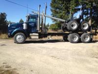 1990 Kenworth T800 Logging Truck. This Blue 1990