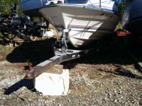 21' Boat Trailer equiped with a manual winch with nylon
