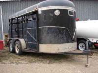 We have a 1990 Ponderosa livestock trailer for sale. We