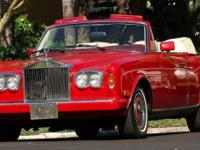 1990 ROLLS ROYCE CORNICHE IN RED AND MAGNOLIA WITH RED