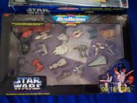 LOT OF STAR WARS MICRO MACHINES STUFF. ALL ITEMS WERE