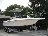 This is a very nice center console hard top sea ray