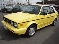 We are selling a 1990 VW Cabriolet Convertible. This is