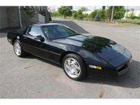 Sleek all Black 1990 Corvette coupe with 34,531 actual