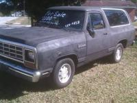 1990 Dodge Ramcharger - Black - Electric Fuel Injection