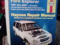 91-01 Explorer Haynes repair manual. Like new. Call