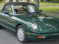 Mint 1991 Alfa Romeo (Italy) Spider with only 25,000