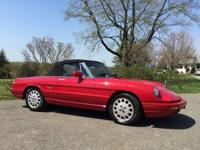 For sale is this beautiful 1991 Alfa Romeo Spider