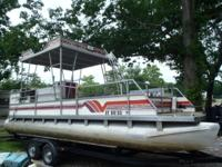 1991 Aloha Double Decker 24ft with 88hp Evinrude Short