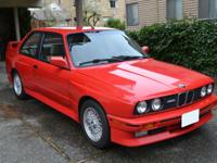 1991 BMW M3 E30 S14 Brilliant Red M-Power  One owner
