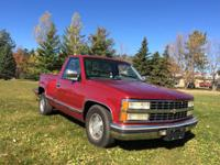 1991 Chevy Silverado sport side 2 wheel drive, 5.7