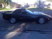 Beutifull black 1991 corvette convertible for sale. It