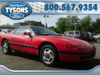 One owner 1991 Dodge Stealth. Bright red over gray