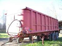1991 dorsey 24' steel dump trailer very straight with