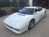 FERRARI 348 TS  White  White and Black Leather seats