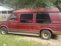 1991 Ford Econoline van.  The van is in good