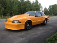 This is a 1991 Ford Mustang Pro Street, COMPLETELY