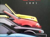 1991 Geo dealer brochure featuring specifications,
