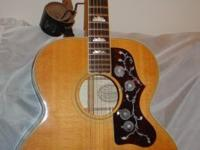 Carefully made use of and loved 1991 Gibson J200 blonde