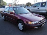 We are selling a 1991 Honda Accord LX 4 Door Sedan.