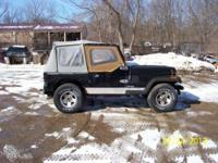 Hello, We are selling a 1991 Jeep Wrangler with only
