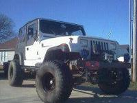For Sale: 91 Jeep Wrangler (white) 4