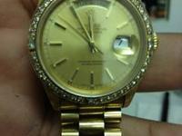 1991 MENS PRESIDENT 18K GOLD ROLEX M#18238 DAY-DATE W/