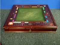 i have a wooden monopoly parlor game from 1991 worth