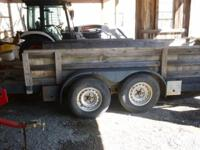 1991 Parker 7,000 lb. open cargo triler, 6ft8in wide x