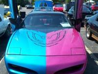 Pink and Blue 1991 Firebird - Bubblicious $12,500 or