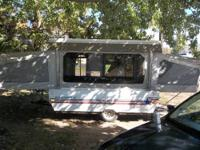 1991 Starflyer pop-up camper. Has a queen,a double, and