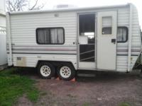 Very well maintained trailer. Shower, sink and toilet,