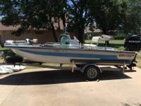 This is a nice 1991 Red-Fin Bass Boat 180T, it is 18 FT