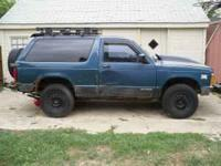 1991 S10 Blazer 4x4 wheel drive works good, manual