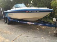 1991 Sanger FX22 22 ft wakeboard style boat.. this has
