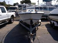 1991 Sunbird Sea Core 173 Center Console with a 90HP