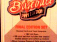 Description 1991 UPPER DECK FINAL EDITION SET. 100 CARD